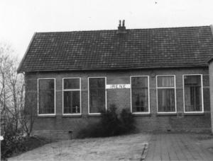 Dorpshuis Irene voor de verbouwing op een foto uit maart 1987
